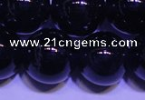CNA565 15.5 inches 14mm round AA grade natural dark amethyst beads