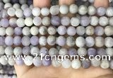 CNA677 15.5 inches 8mm round matte lavender amethyst beads