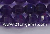 CNA752 15.5 inches 8mm faceted round natural amethyst beads