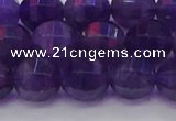 CNA753 15.5 inches 10mm faceted round natural amethyst beads