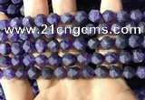 CNA767 15.5 inches 8mm faceted nuggets matte amethyst beads