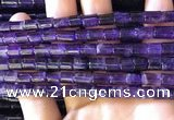 CNA776 15.5 inches 6*7mm - 6*8mm tube natural amethyst beads