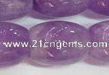 CNA979 15.5 inches 15*20mm drum natural lavender amethyst beads