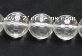 CNC12 15.5 inches 16mm faceted round grade AB natural white crystal beads