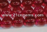 CNC413 15.5 inches 10mm round dyed natural white crystal beads
