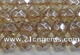 CNC520 15.5 inches 12mm faceted round dyed natural white crystal beads
