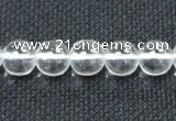 CNC59 15.5 inches 10mm round grade A natural white crystal beads