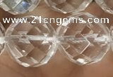 CNC709 15.5 inches 20mm faceted round white crystal beads