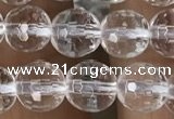 CNC712 15.5 inches 6mm faceted round white crystal beads