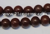CNE12 15.5 inches 14mm round red stone needle beads wholesale