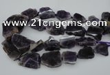 CNG1076 15.5 inches 18*25mm - 35*40mm nuggets amethyst beads