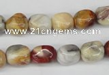 CNG11 15.5 inches 9*12mm nuggets agate gemstone beads