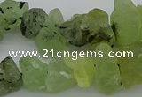 CNG1136 8*12mm - 13*18mm nuggets green rutilated quartz beads