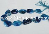 CNG1205 15.5 inches 20*30mm - 30*40mm freeform agate beads