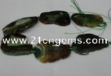 CNG1221 15.5 inches 30*50mm - 40*55mm freeform agate beads