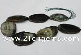 CNG1255 15.5 inches 35*45mm - 40*60mm freeform agate beads