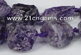CNG1306 15.5 inches 8*12mm – 25*35mm nuggets amethyst beads