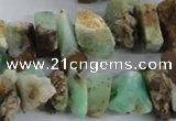 CNG1316 15.5 inches 12*16mm - 15*20mm nuggets australia chrysoprase beads