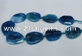 CNG1332 15.5 inches 35*40mm faceted freeform agate beads