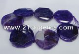 CNG1345 15.5 inches 52*55mm faceted freeform agate beads