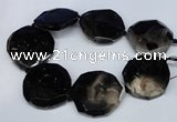 CNG1350 15.5 inches 52*55mm faceted freeform agate beads