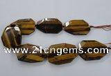 CNG1558 15.5 inches 40*55mm faceted freeform yellow tiger eye beads