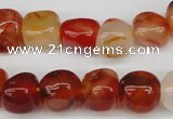 CNG16 15.5 inches 11*12mm nuggets agate gemstone beads