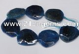 CNG1607 15.5 inches 45*50mm faceted freeform agate beads