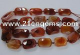 CNG1634 15.5 inches 25*35mm - 25*40mm faceted freeform agate beads