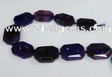 CNG1681 15.5 inches 30*40mm freeform agate gemstone beads wholesale