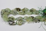 CNG1709 15.5 inches 15*20mm - 18*35mm nuggets prehnite beads