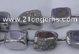 CNG2000 15.5 inches 8*12mm - 10*15mm nuggets plated quartz beads