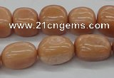 CNG213 15.5 inches 12*16mm nuggets red aventurine beads