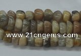 CNG214 15.5 inches 6*8mm nuggets moonstone gemstone beads