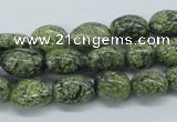 CNG215 15.5 inches 8*10mm nuggets green lace gemstone beads