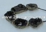 CNG2314 7.5 inches 25*35mm - 35*40mm freeform druzy agate beads