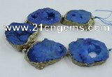 CNG2341 7.5 inches 40*50mm - 55*60mm freeform druzy agate beads