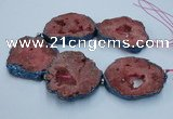 CNG2357 7.5 inches 40*50mm - 55*60mm freeform druzy agate beads
