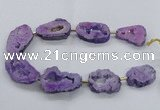 CNG2492 15.5 inches 30*40mm - 40*50mm freeform plated druzy agate beads