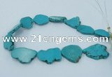 CNG2516 15.5 inches 25*30mm - 35*40mm freeform turquoise beads