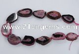 CNG2532 15.5 inches 20*28mm - 30*40mm freeform druzy agate beads
