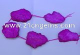CNG2572 15.5 inches 45*50mm - 55*65mm freeform druzy agate beads