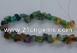 CNG2591 15.5 inches 13*18mm - 15*25mm nuggets plated druzy agate beads