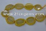 CNG2608 15.5 inches 30*35mm - 40*45mm freeform agate beads