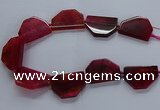CNG2742 15.5 inches 28*40mm - 30*45mm freeform agate beads