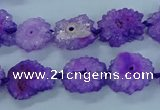 CNG2967 15.5 inches 8*10mm - 15*18mm freeform druzy agate beads
