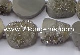 CNG2976 15.5 inches 13*18mm - 20*25mm freeform druzy agate beads