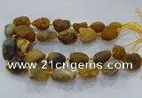 CNG3000 15.5 inches 15*20mm - 22*30mm nuggets agate beads