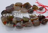 CNG3045 25*30mm - 30*40mm nuggets agate gemstone beads
