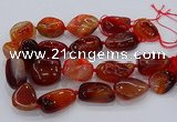 CNG3049 25*30mm - 30*40mm nuggets agate gemstone beads